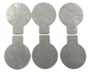 details about ar500 6 x 3 8 steel target plate rack diy kit paddles