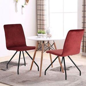 lot de 2 chaises rouges tendance design en