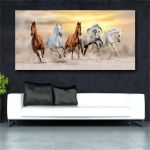 Home Decor Posters Prints Running Horse Oil Painting Landscape Modern Art Canvas Prints Home Decor Ht57 Home Garden