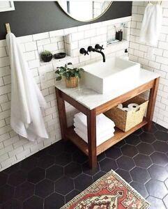 details about tile sample pura satin black hexagon porcelain wall floor in outdoor tiles