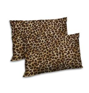 details about 12x18 leopard print set of 2 satin pillow case throw cushion cover home decor