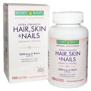 nature s bounty optimal solutions hair skin nails extra strength ebay