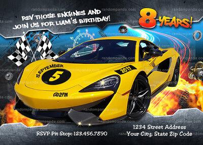 race car invitation cars party race track birthday invite ebay