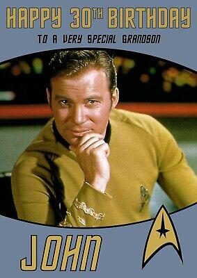Personalised Birthday Card Star Trek Any Name Age Relation Ebay
