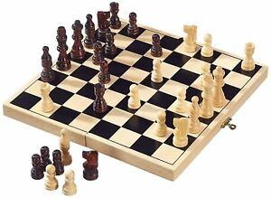 Folding Wooden Chess High Quality Chess Set Folding 32cm X 32cm Uk Seller 751109716445 Ebay