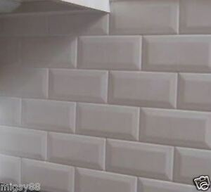 details about wall tiles gloss white bevel subway tile 200x100mm