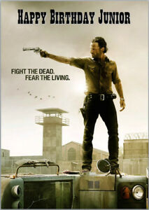 Rick Grimes Walking Dead Birthday Card A5 Personalised With Any Wording Ebay