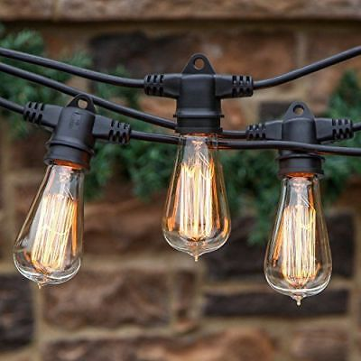 48 feet ambience outdoor commercial industrial strenght string deck patio lights ebay