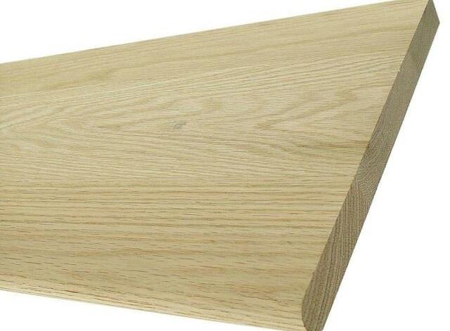 48 In Long Unfinished White Oak Wooden Tread Interior Stainable | Oak Wood Stair Treads | Hardwood Lumber | Risers | Hardwood Flooring | Solid Oak | Return