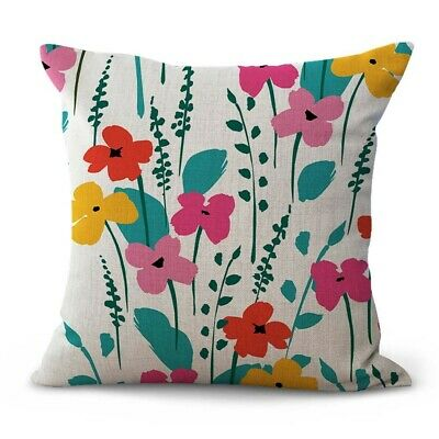 decorative cushion covers spring summer floral cushion cover ebay