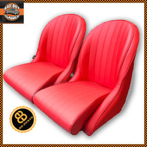 details sur paire rouge bb vintage classic voiture sieges baquets bas arrondi dos ideal pour mga afficher le titre d origine