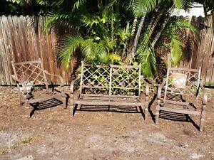 detalles acerca de muebles para patio de aluminio fundido 2 sillas club dos plazas hampton bay pina mostrar titulo original