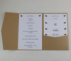 Pocket Invitations Diy Wedding Invites