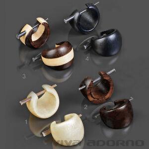 1 Paar Holz Ohrringe Holz Creolen Kreolen braun schwarz Ohr Piercing CC163