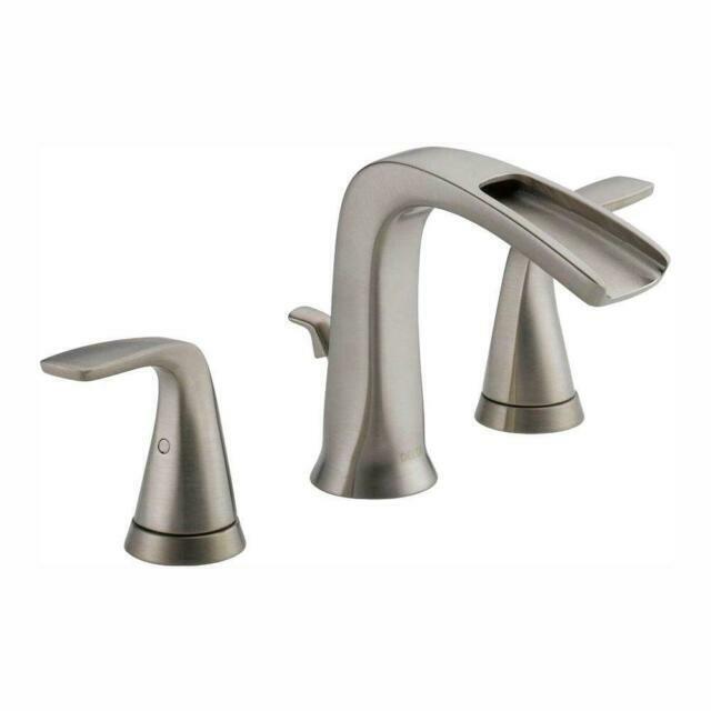 delta tolva two handle widespread bathroom faucet 35724lfsseco