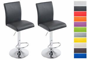 details sur lot de 2 tabourets de bar koln similicuir hauteur reglable repose pied chaise