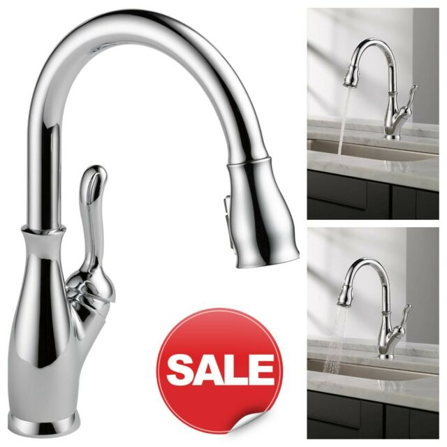 delta 9178 dst leland pull down kitchen sink faucet chrome
