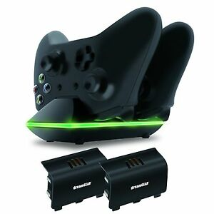 Xbox One Dual Charging Dock Controllers Charger 2x