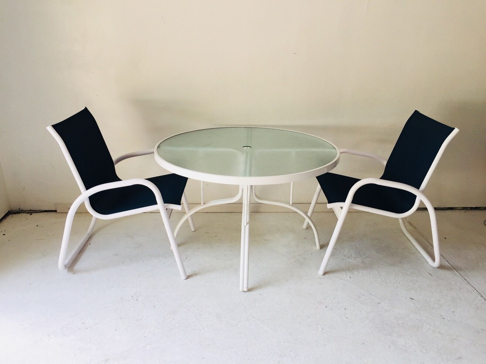 telescope patio furniture excellent white navy mesh table 2 chairs usa