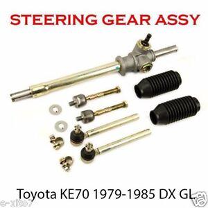 details about new corolla ke70 te70 79 85 rhd non power steering rack pinion tie rods