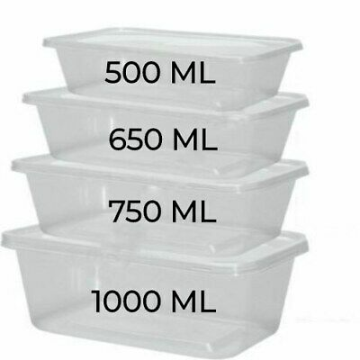 plastic food containers clear lids takeaway microwave safe storage tubs boxes ebay