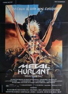 details about heavy metal potterton alien sexy woman large french movie poster