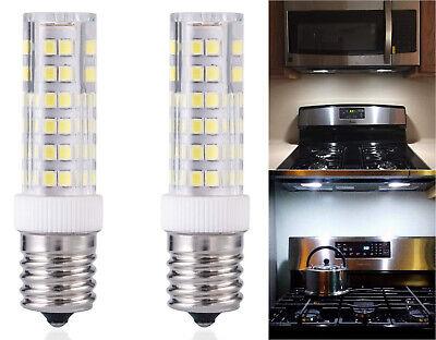 2x e17 led bulb microwave oven light dimmable daylight white 6 watt 6000k large ebay