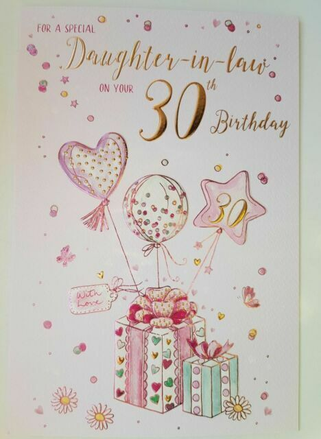 For A Special Daughter In Law On Your 30th Birthday Card For Sale Online Ebay
