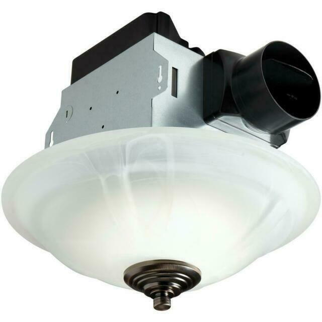 homewerks worldwide 7106 03 ceiling exhaust fan 80 cfm w led light white b3