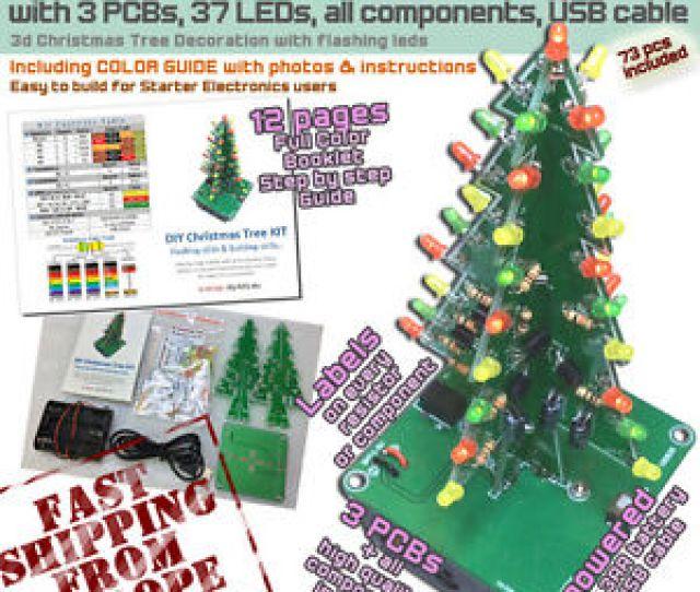 Image Is Loading Diy Christmas Led D Tree Kit Flashing Starter
