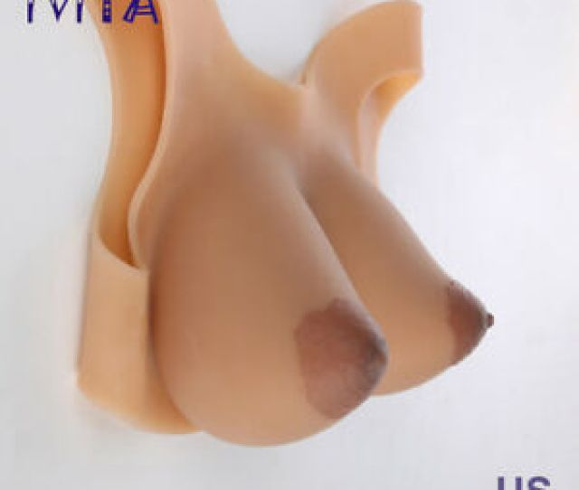 Image Is Loading Silicone Breast Forms Big Oval Nipple Ff Cup