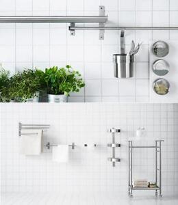 details sur ikea grundtal cuisine rangement mural gamme salle de bain accessoires en un