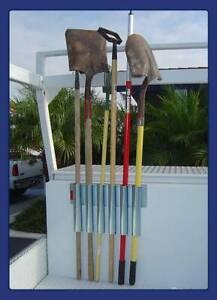details about heavy duty truck bed toolbox trailer mount garden tool holder rack gardener