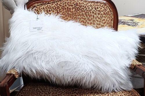 dekokissen sheffield home white faux fur throw pillows 14 x 26 in new mobel wohnen elite eshop eu
