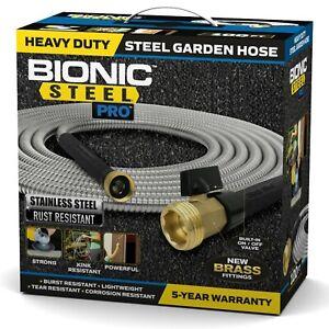 Bionic Steel Pro Heavy Duty 304 Stainless Steel Metal Garden Hose - 4 Sizes!