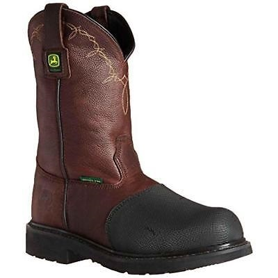 "John Deere Men's 11"" FR Steel Toe XRD Met Work Boot Dark Chocolate, JD4375: Shared by medianet.info"