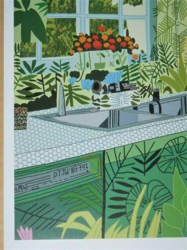 jonas wood jungle kitchen 2017 exhibition poster interiors landscapes new art posters art