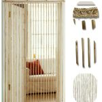 2 X Heavy Bamboo Beaded Door Curtain Blind Fly Screen For Sale Ebay