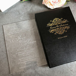 details about 30 free shipping personalized clear glass acrylic wedding invitation cards