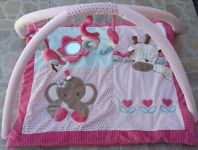 tapis d eveil avec arches elephant girafe rose et charlotte nattou ebay