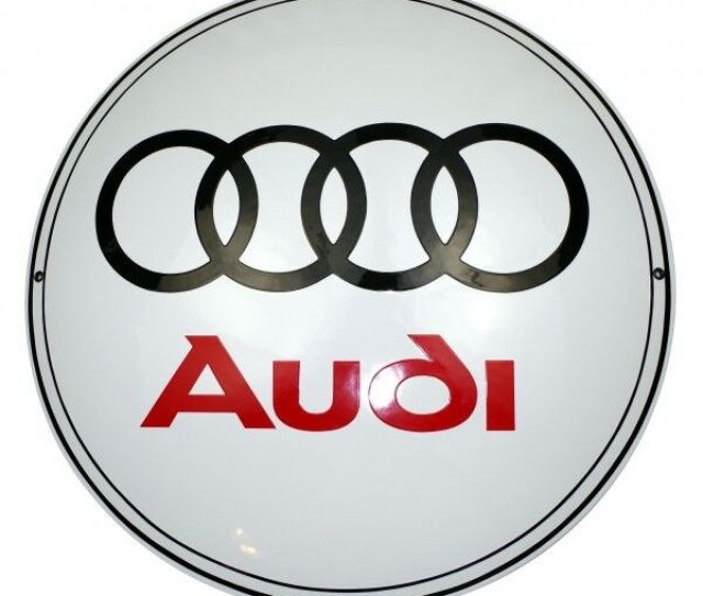 Enamel Plaque Audi  Ys Collectable Sign Logo Plate Emblem Ebay