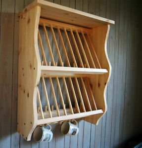 double kitchen plate rack shelf solid