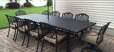 11 piece outdoor dining set patio cast aluminum furniture 10 person table 35426205890 ebay