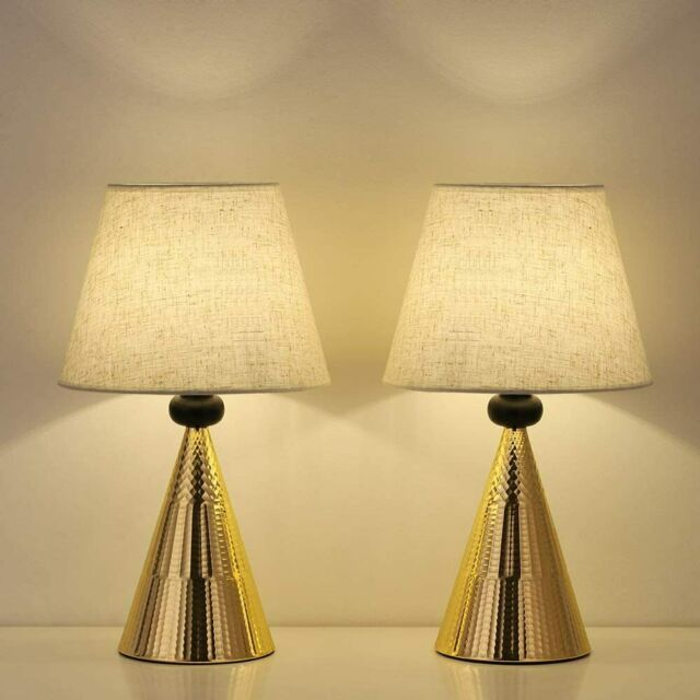 set of 2 vintage table lamps bedside nightstand lamp bedroom living room office
