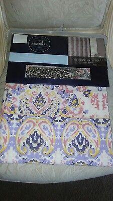 style sanctuary 13 piece shower curtain bath set ebay