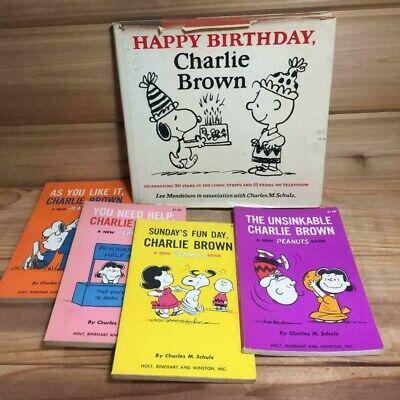 Happy Birthday Charlie Brown Charles Schulz Hc 1st Ed Paperbacks Lot Of 5 Ebay