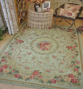 Victoria Style Country Floral Floor Mat Rug Carpet Size