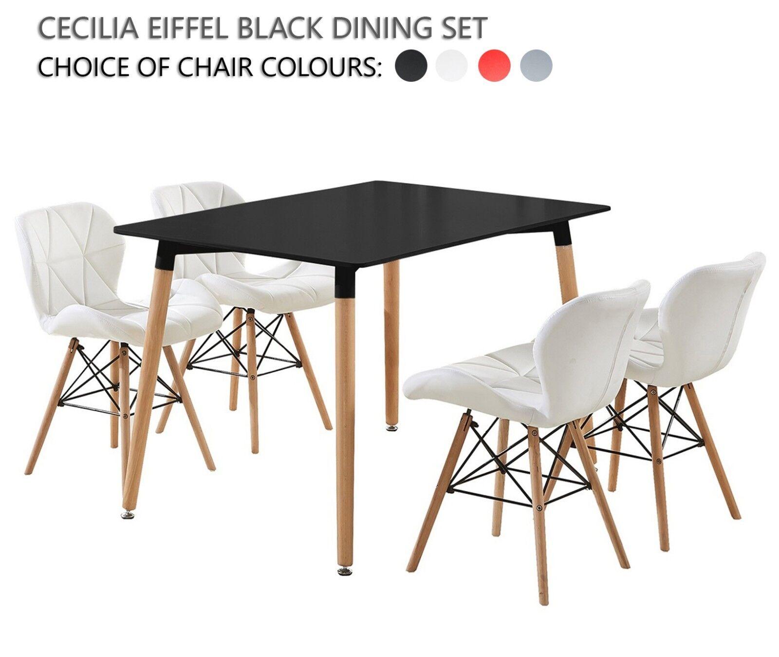 Esstisch Stuhle Schwarz Leder Esstisch Mit Stuhlen Cazama