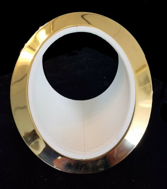 juno lighting 604w pb 6 super slope recessed trim white baffle brass ring