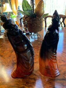 Pair of Chinese horn statues antique